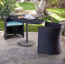 furniture artistic high top table patio furniture with black wicker outdoor chairs and white porcelain teapot black and white patio furniture