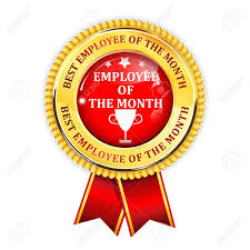 Employee Of The Month Award Employee Of The Month Elegant Golden Red Award Ribbon