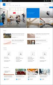 Sharepoint Website Examples What Is A Sharepoint Communication Site Office Support