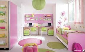 Girly DIY Bedroom Decorating Ideas For Teens: Gorgeous Pink Green DIY Teens  Bedroom Decorating Decoration