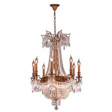 worldwide lighting winchester collection 12 light french gold and clear crystal chandelier