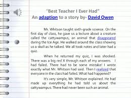 the best teacher in the world essay the best teacher ever