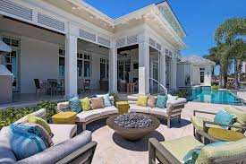 bordered outdoor cushions and pillows patio contemporary with