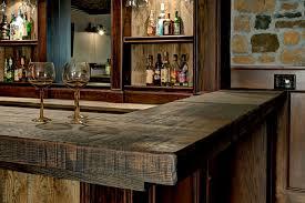 Custom Basement Bar rustic-basement