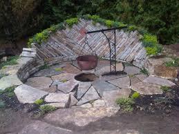 concrete patio with square fire pit. Small Patio With Fire Pit Design Ideas. Stamped Concrete Square