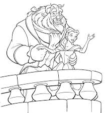 Beauty And The Beast Coloring Pages To Free Download Jokingartcom