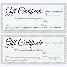 Free Printable Gift Certificate Template Word Gift Certificate 30 Gift Certificate Template Certificate