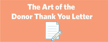The Art Of The Donor Thank You Letter | Kids Gifts
