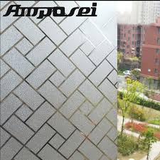 office glass windows. 45*200cm PVC Static Glass Windows Film Frosted Privacy Home Office Decorative Self-adhesive