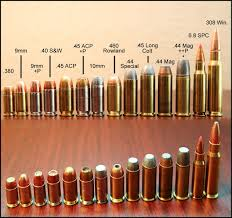Pistol Size Chart Vintage Outdoors Popular Pistol Calibers Visual Size