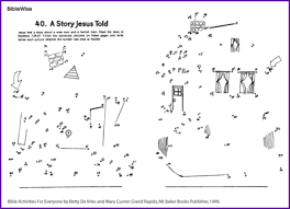 Small Picture Parable Wise Man Foolish Man Dot to Dot Kids Korner BibleWise