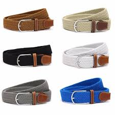whole fashion men s elastic stretch belt leather golf wide waistband 6 colors 448e