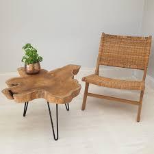 table tree wood slice coffee table