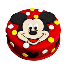 Adorable Mickey Mouse Cake 1kg Black Forest Eggless Gift Mickey
