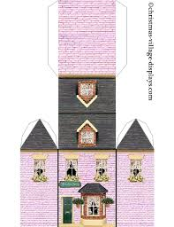 Template Paper Building Template Printable Model Of Flower Shop