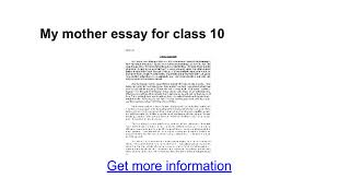 my mother essay for class google docs