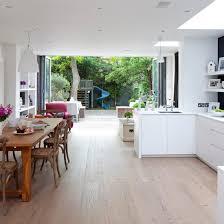 white kitchen wood floor. Plain Kitchen Opt For An Openplan Scheme Throughout White Kitchen Wood Floor Y