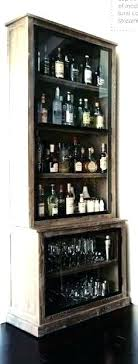 liquor bottle storage rack wood bar wine glass cabinet with holder and hanging magnificent rustic wall