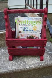 rustic magazine holder vintage wooden by upcycledcottagedecor vintage magazine rack l73 vintage