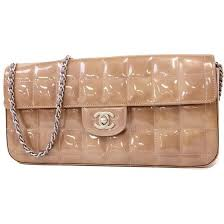 chanel patent leather chocolate bar bag reserved
