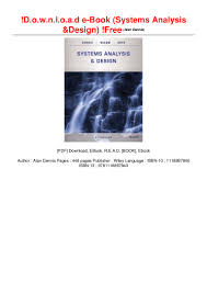 Systems Analysis And Design Wiley D O W N L O A D E Book Systems Analysis Design Free