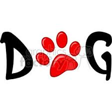 red dog paw clipart.  Paw 12808 RF Clipart Illustration Dog Text With Red Paw Print Inside