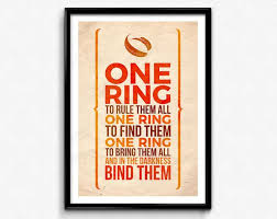 Lord Of The Rings Ring Quote Best Lord Of The Rings Quote PosterPrint One Ring To Rule Them Etsy