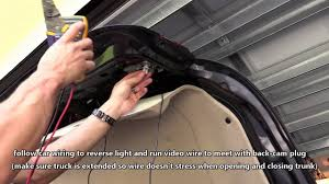 how to install car backup camera wire rear view cam to tail light how to install car backup camera wire rear view cam to tail light