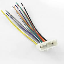 feeldo 15pin car audio stereo wiring harness adapter for nissan