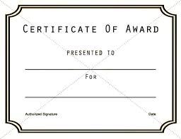 Certificate Template Free Printable Award Affordacart Com