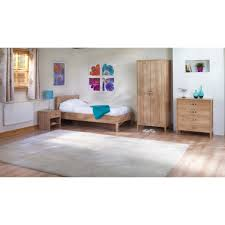 Oak Bedroom Chest Of Drawers Oxley Light Oak Bedroom Trio Set Two Door Wardrobe Two Drawer