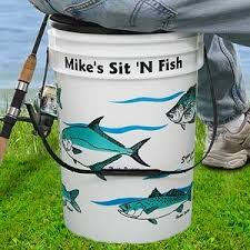 Personalized Fishing Bucket Cooler and Seat -Awesome gift