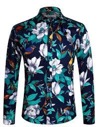 <b>Men's Shirt</b> Luxury Printing Pattern Long Sleeve <b>Floral Shirt</b> - 1006 ...