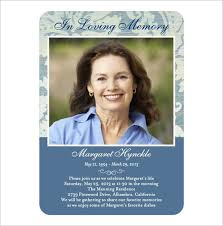 Funeral Remembrance Cards 17 Obituary Card Templates Free Printable Word Excel