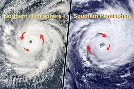 Image result for hurricane rotation on the earth