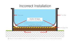 pool liner air space diagram incorrect
