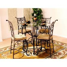 Dinettes By Design New 5 Piece Round Glass Top Traditional Dining Room Kitchen