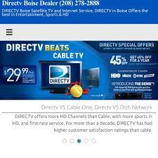 Directv Boise Dealer Boise Satellite Tv And Internet Service