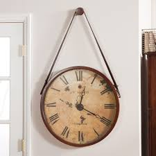 sizable large round wall clock howard miller distressed antique dial nickel ring naitoyuki extra large round wall clocks large round wall clock creative