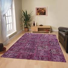 rugsville vintage patchwork overdyed purple wool rug 7 x 10