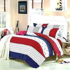impressive red and blue bedding at stars stripes white reversible single duvet quilt cover