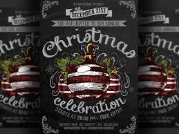 christmas event flyer template vintage christmas event flyer template by hotpin dribbble dribbble