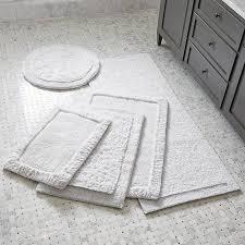 ultra spa white bath rugs crate and barrel with regard to grey bathroom decor 12