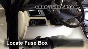 interior fuse box location cadillac escalade  locate interior fuse box and remove cover
