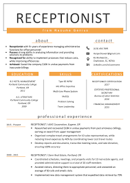 Sample Resume For A Receptionist Receptionist Resume Sample Writing Guide Resume Genius