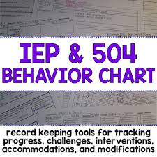 Behavior Modification Charts For Parents Iep Behavior Chart And Parent Contact Log