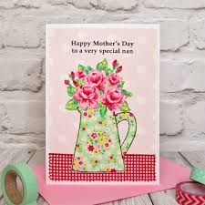 Roses Personalised Birthday Card Mothers Day Card By Jenny Arnott