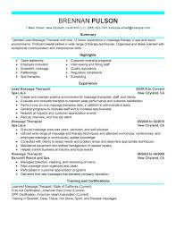 Massage Therapist Resume Best Lead Massage Therapist Resume Example LiveCareer 9