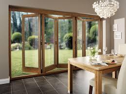 oak folding glass patio doors