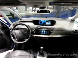 Interior of the 2014 Citroen Grand C4 Picasso - Indian Autos blog